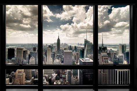 New York ikkunan läpi -juliste