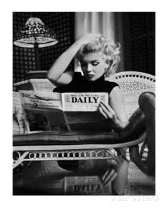 Mustavalkoinen Marilyn Monroe -juliste